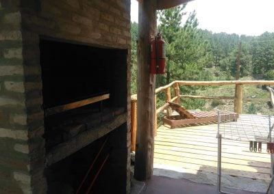 Parrilla y Deck de la Cabaña 4