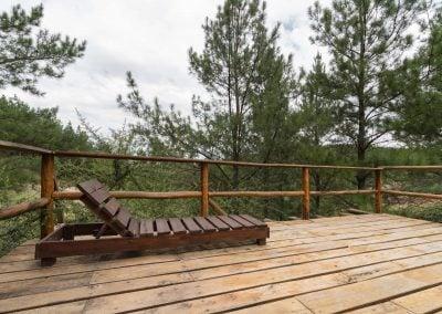 Vista del deck de la Cabaña 1